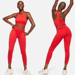 Outdoor Voices TechSweat Crop Scarlet leggings med